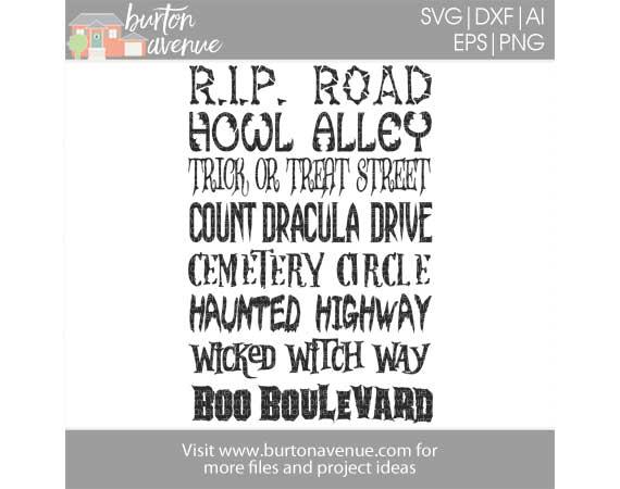 Halloween Street Names