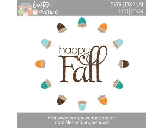 Happy Fall w/Acorns