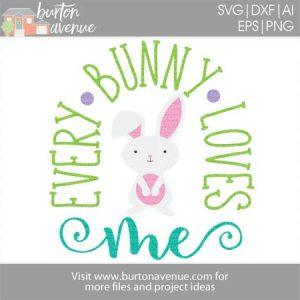 Easter Blessings W Bunny Ears Cut File Burton Avenue