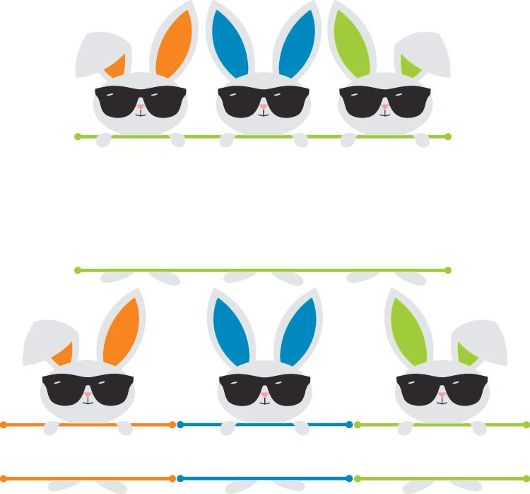 split bunny sunglasses