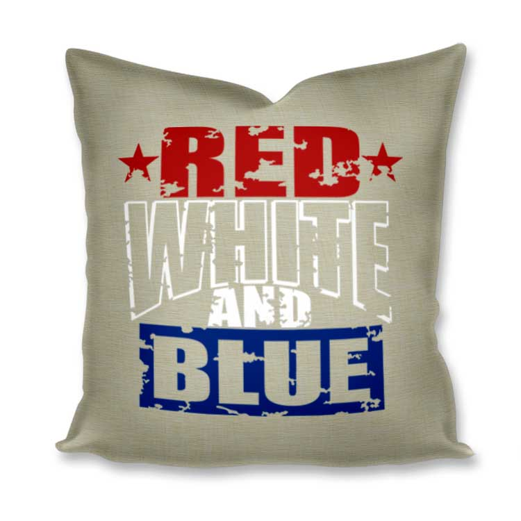 Grunge Red White and Blue