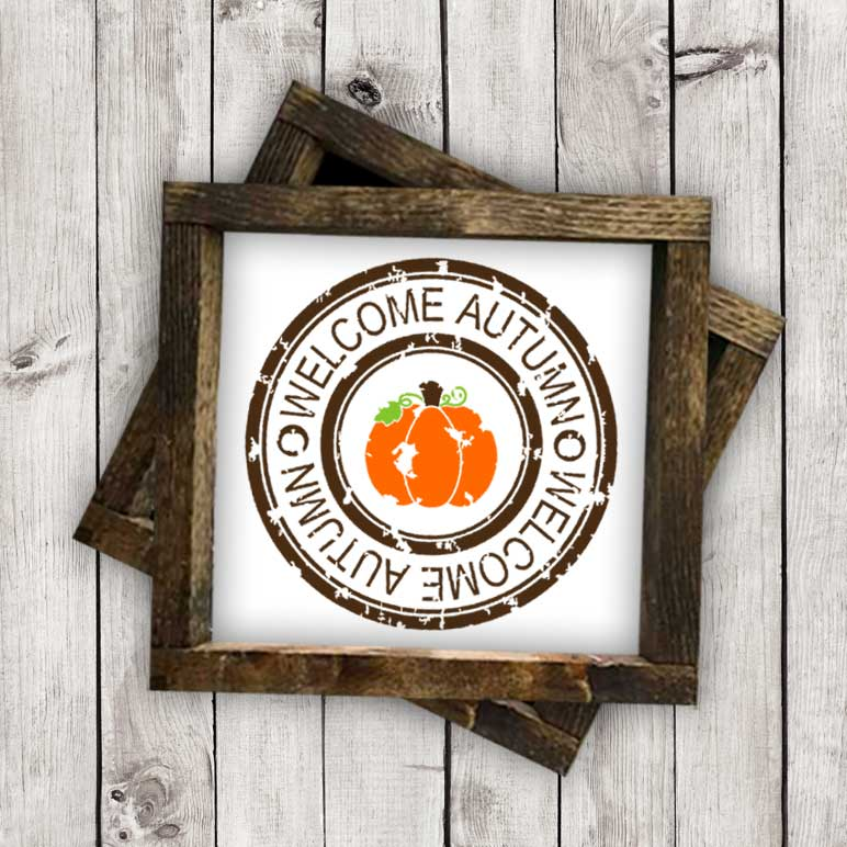 Grunge Autumn Stamp