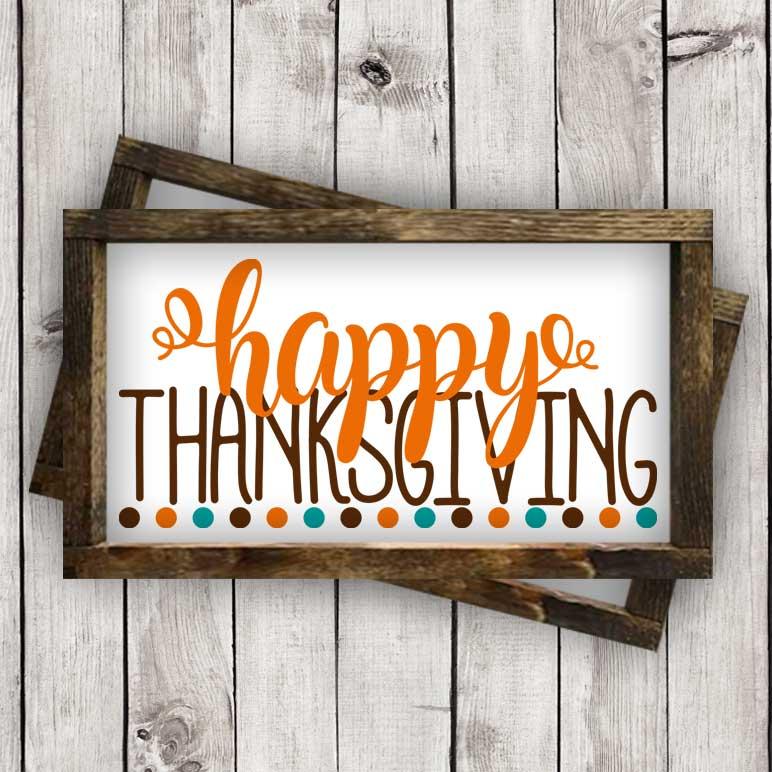 Happy Thanksgiving w/Dots