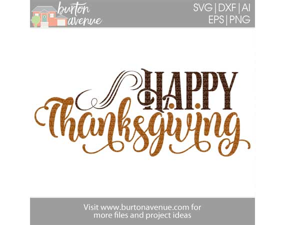 Happy Thanksgiving w/Flourish