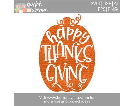 Happy Thanksgiving in Pumpkin