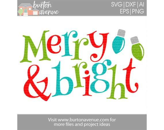 Merry Bright Cut File Burton Avenue