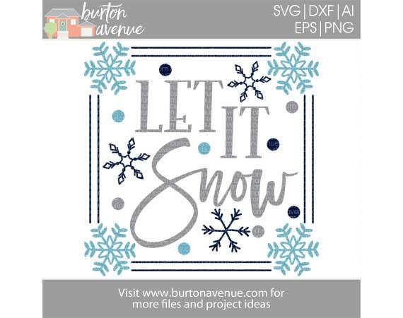 Let it Snow w/Border