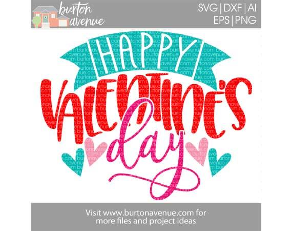 Happy Valentine's Day w/Banner