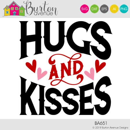 Hugs and Kisses with Flourish