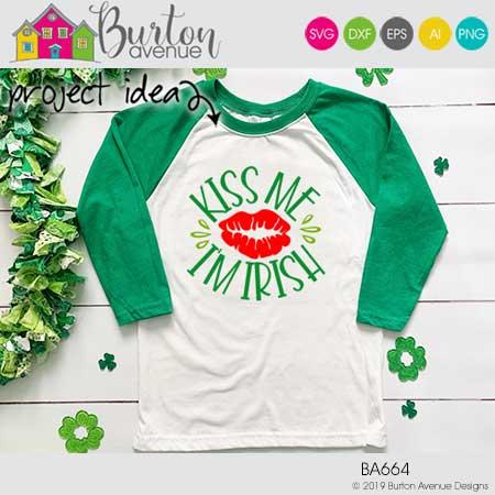 Kiss me I'm Irish w/Lips