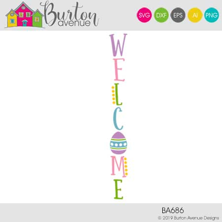 Easter Welcome Vertical