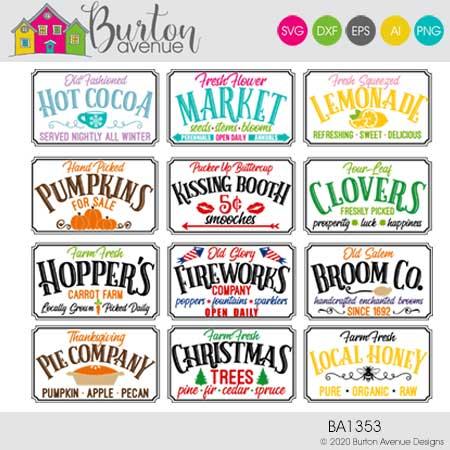 Holidays & Seasons Sign Bundle