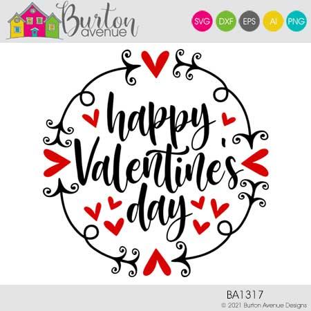 Happy Valentine's Day with Border