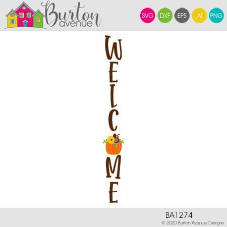 Welcome with Pumpkin Vertical