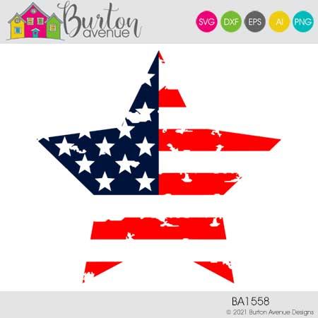Grunge Patriotic Star